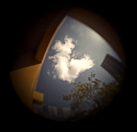Fisheye cloud -- color